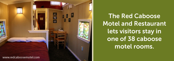 Red Caboose Motel Room