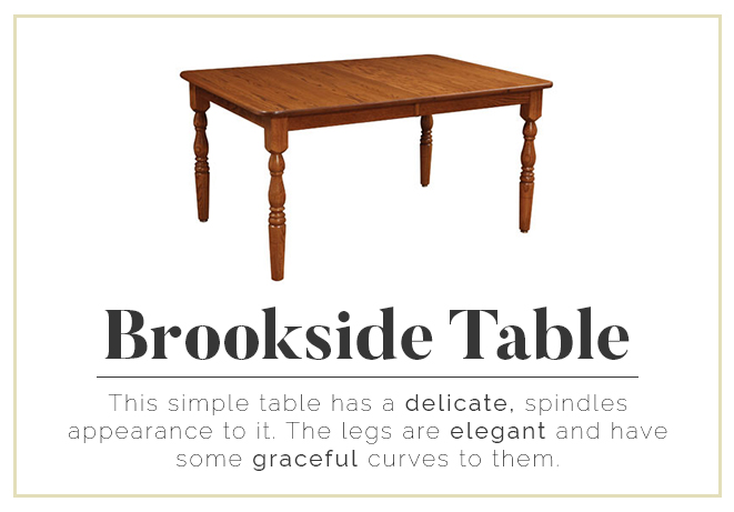 Brookside Table - delicate, elegant, and graceful