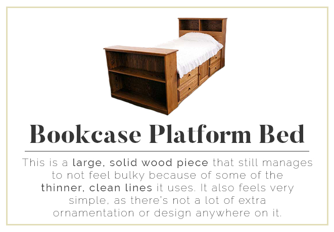 Bookcase Platform Bed - solid wood with clean lines
