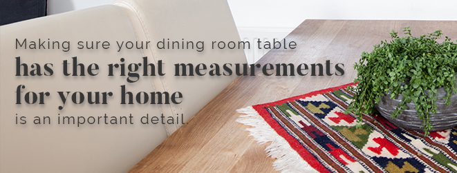 dining room table measurements