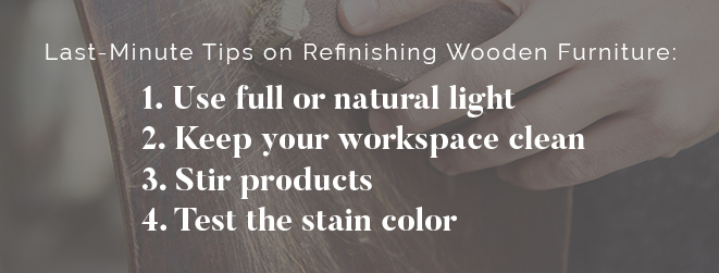 Last Minute Refinishing Tips
