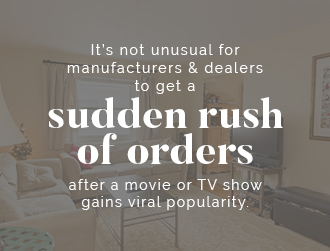 Sudden rush of orders