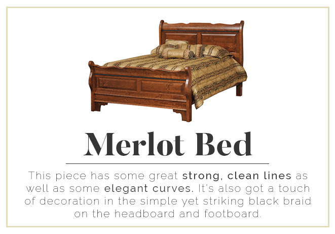Merlot Bed - Strong lines and elegant curves