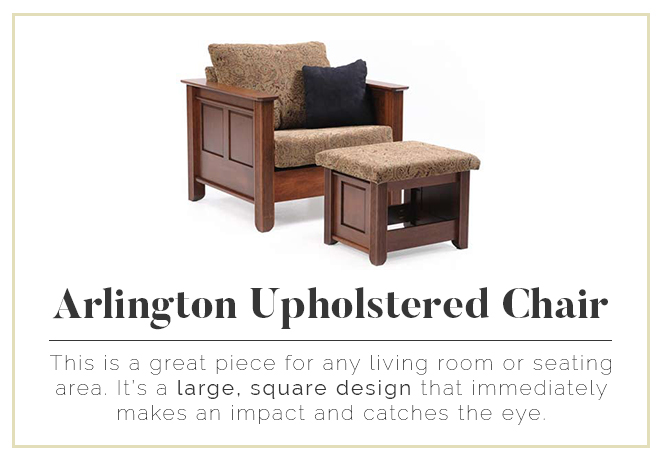 Arlington Upholstered Chair - large, square design