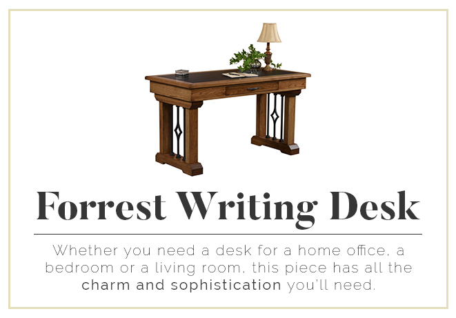 Forrest Writing Desk - Charm and Sophistication