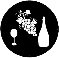 Grape Vine and Wine Logo