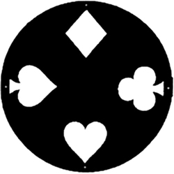 Spade, Diamond, Clover, and Heart Logo