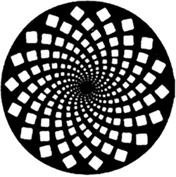 Circle with Spiral of Squares Inside