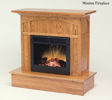 Up To 33 Off Mission Fireplace Solid Wood Furniture