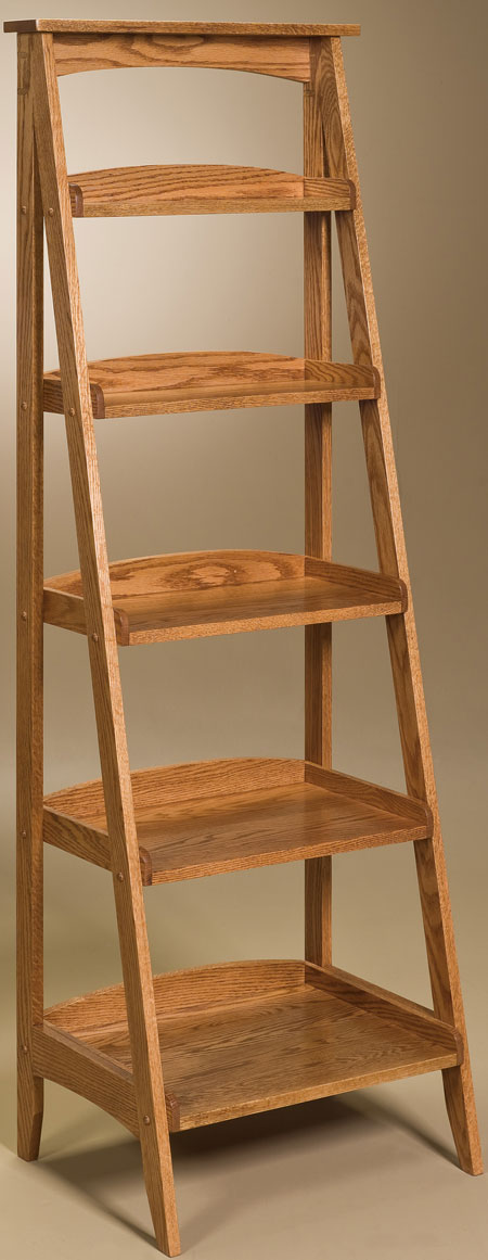 Up To 33 Off Ladder Shelf Solid Wood Amish Furniture