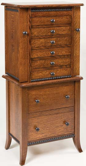 Up to 33% Off Bunkerhill Style Jewelry Armoire | Solid ...