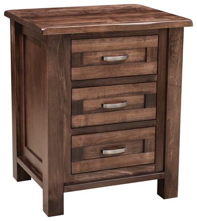 Up To 33 Off Regal 3 Drawer Nightstand Amish Outlet Store