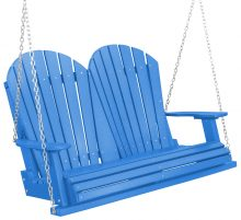 Blue Wooden Porch Swing