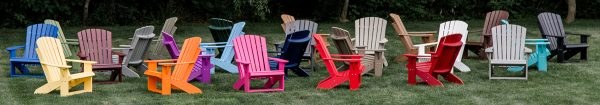 Assortment of Colored Wooden Beach Chairs