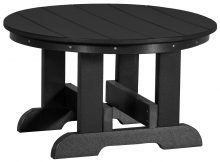 Black Wooden Outdoor Table