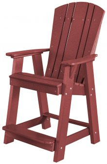Maroon Wooden Folding Chair