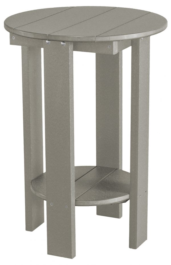 Grey Wooden Outdoor Side Table