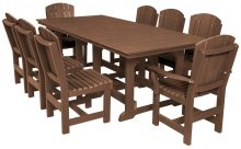Brown Wooden Outdoor 8 Person Table Set