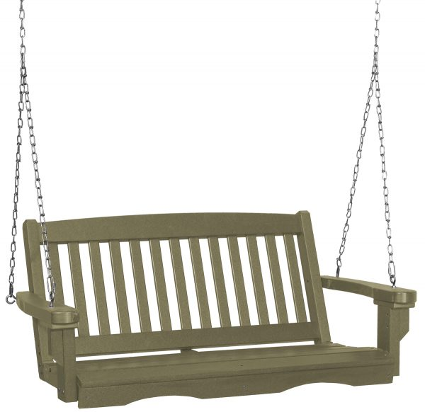 Two Person Hanging Wooden Porch Swing