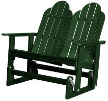 Green Two Person Wooden Rocking Chair