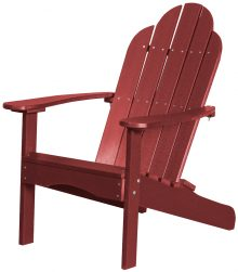 Red Wooden Beach Chair