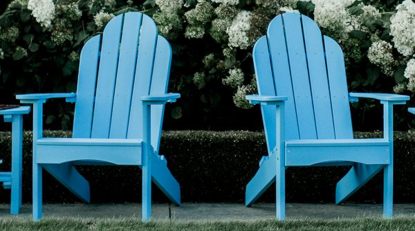 Two Two Light Blue Wooden Beach Chair