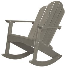 Grey Outdoor Wooden Rocking Chair