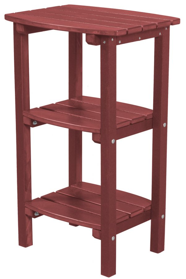 Red Wooden Side Table