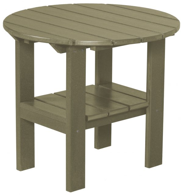 Tan Wooden Side Table