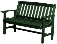 Green Wooden Bench