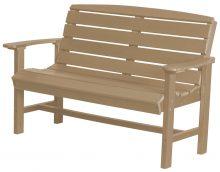 Light Brown Wooden Bench