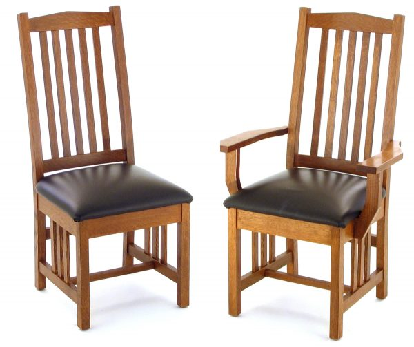 Light wooden kitchen chair with cushion