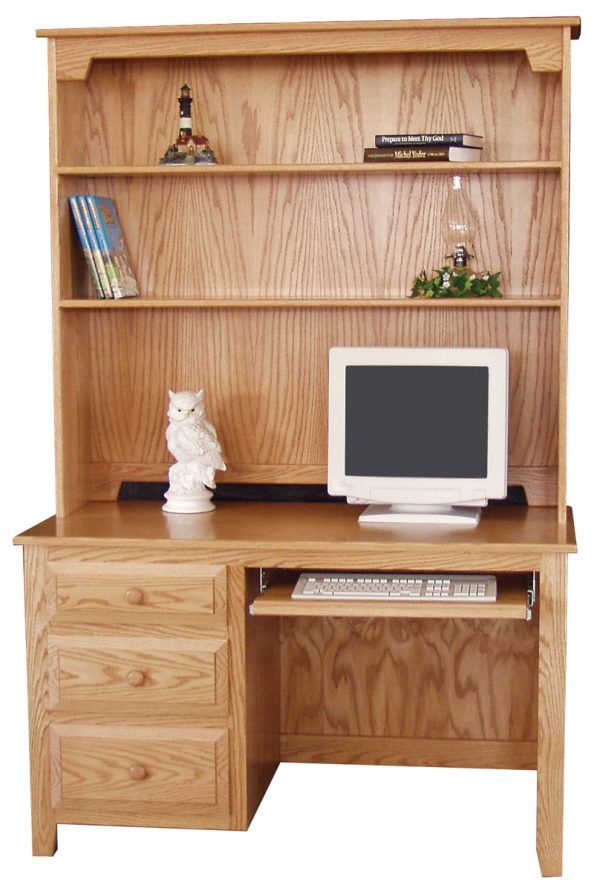 small desk with hutch top