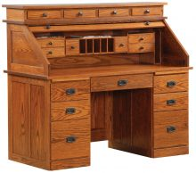 Mission Deluxe Roll Top Desk
