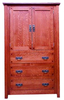 Mission Square Armoire