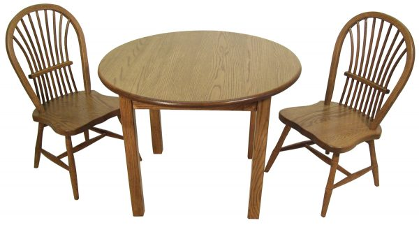 Child's Round Table Set in Oak