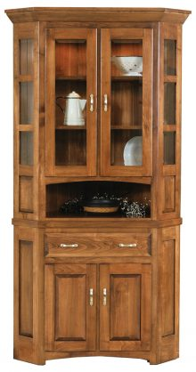 Amish Furniture Collections: Corner Hutches - Amish Outlet Store
