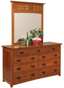 Dresser With 9 Drawers And Mirror