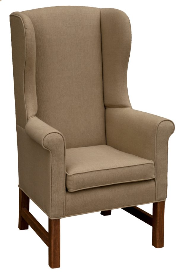 Upholstered Arm Chair With Beige Fabric
