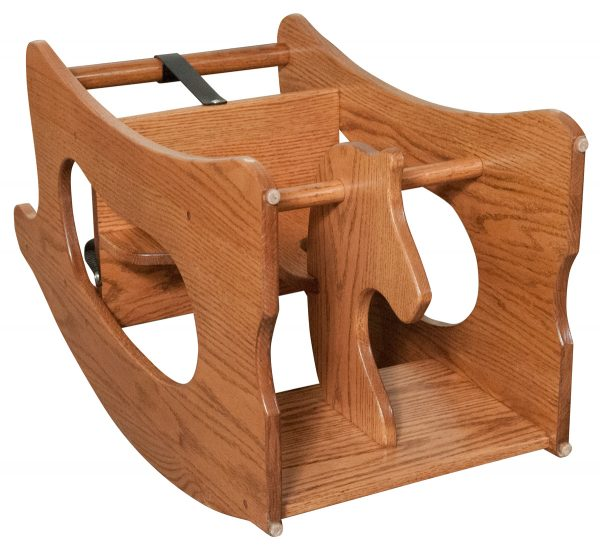 Handmade wooden rocking hourse and high chair