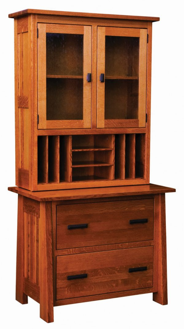 wooden drawers with vertical file cabinet