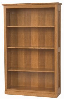 large light wooden bookshelf
