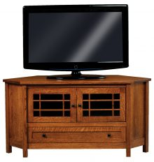 wooden corner tv stand with glass cabinets