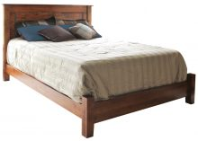 wooden bedframe with no footboard
