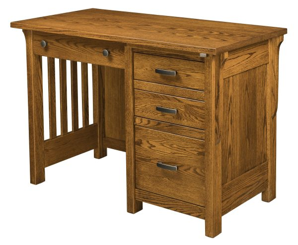 wooden desk with 4 drawers