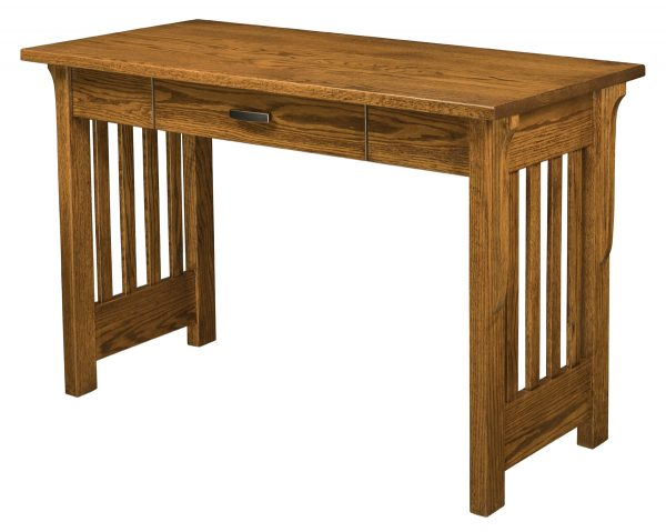 wooden desk with 1 drawer