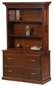 Newport Lateral File Cabinet With Bookcase Hutch