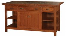Amish Kitchen Islands & Workstations   Solid Wood Amish ...