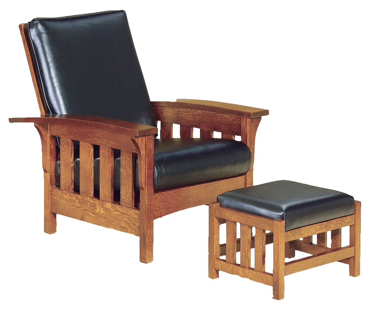 View Larger Image - Up To 33% Off Bow Arm Slat Morris Chair - Amish Outlet Store