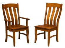 Amish Kitchen & Dining Chairs   Solid Wood Amish Furniture